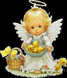 superbes illustr de ruth morehead - Page 2 Angel Pictures, Cute Pictures, Cute Clipart, Angel Art, Vintage Easter, Precious Moments, Christmas Angels, Vintage Cards, Cute Cartoon