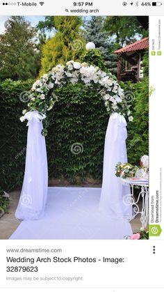 20 beautiful wedding arch decoration ideas wedding arch photo about wedding arch with white flowers image of design celebration ceremony 32879623 mightylinksfo