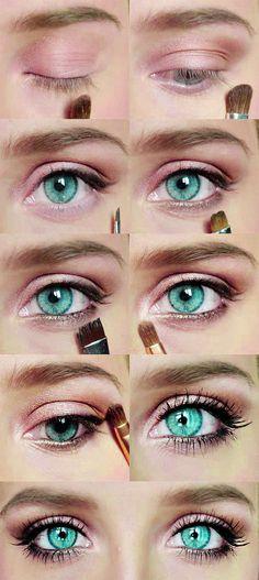 pink shimmer makeup tutorial. More tutorials here #younique #beauty #mineralmakeup