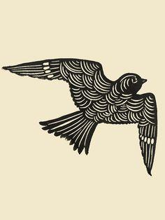 Sammamish Bird Print by Seattle artist Jennifer Ament