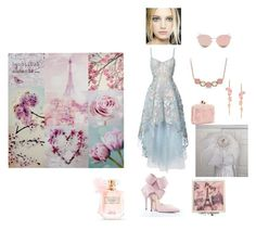 """La Vie En Rose"" by hope89 on Polyvore featuring Notte by Marchesa, Sophia Webster, Allurez, Stephen Webster, Stephane + Christian and Victoria's Secret"