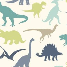 "Chesapeake BYR95563 Toothy Blue Dinosaur Toss Wallpaper. Wallpaper is priced in Single Roll but it is packaged & shipped in Double Roll(s). Single roll dimensions 33 FT x 20.5"""" IN. Pattern repeats ev"