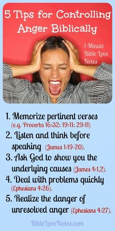 1-Minute Bible Love Notes: 5 Tips for Biblical Anger Management.