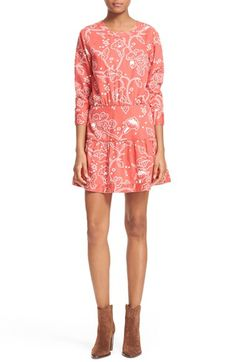 Current/Elliott 'The Tennant' Floral Print Cutout Dress available at #Nordstrom