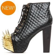 ummmm....this is something out of a B grade Spy movie!    Jeffrey Campbell 'quilted lita' with spikes at ashburyskies.com