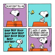 Tuesday with Snoopy and Woodstock.