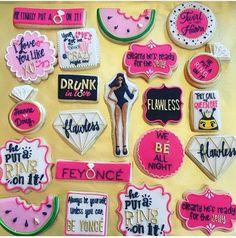 Beyonce inspired bridal shower cookies