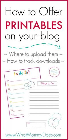 How to Offer Printables on Your Blog
