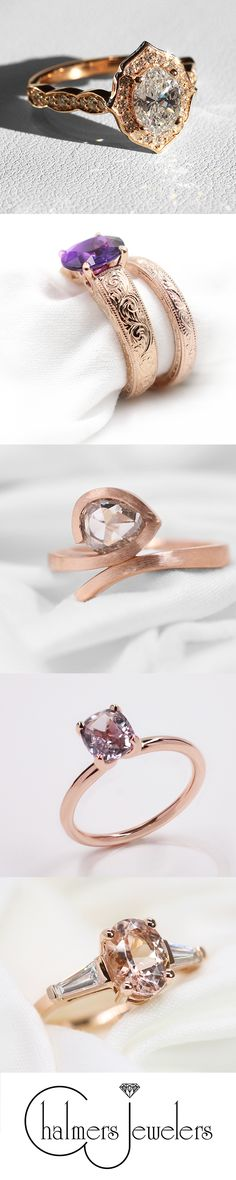 5 Unique Rose Gold Engagement Ring Styles