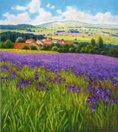 "G. Nesvadba ""Field of Irises"" http://www.artshopnc.com/component/content/article/318.html"