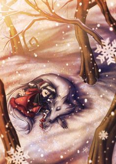 In an unusual twist, illustrator Irureta makes Little Red Riding Hood friends with the Big Bad Wolf Red Riding Hood Wolf, Little Red Ridding Hood, Charles Perrault, Big Bad Wolf, Fairytale Art, Spanish Artists, Red Hood, Illustrations, Fantasy Art