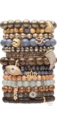 SYDNEY EVAN JEWELS...Stacked beaded bracelets | LOLO❤︎