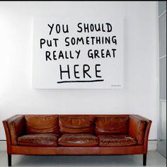 Poster idea living room