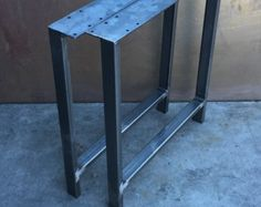 Industrial Steel table legs-READY TO SHIP by BlueRidgeMetalWorks