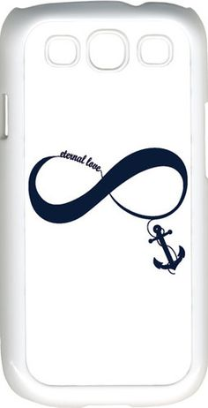 White Navy Blue Infinity Symbol with Anchor Samsung Galaxy S3 Case Cover | eBay