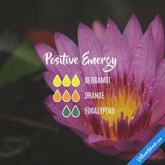 Positive Energy - Essential Oil Diffuser Blend #Essentialoildiffusers