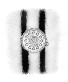 The special limited edition of Fendi Crazy Carats timepieces, adorned with precious diamonds
