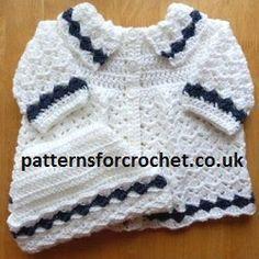 Free baby crochet pattern Coat & Hat Set UK
