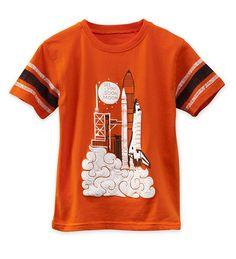 "Short-Sleeve Rocket Ship ""See You Soon, Moon"" Graphic Tee | CWDkids"