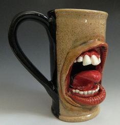 Teeth and Tongue Mug- FOR SALE by thebigduluth on deviantART