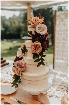 Bodas Boho Chic, Summer Wedding Cakes, Autumn Wedding Cakes, Autumn Cake, Spring Wedding, Modern Wedding Cakes, Wedding Cake Vintage, Summer Wedding Ideas, Dream Wedding