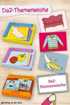 """Heute starten wir in unsere DaZ-Themenwoche. Jeden Tag möchten wir Ihnen ein Produkt vorstellen, das Ihnen die Arbeit im Bereich """"Deutsch als Zweitsprache"""" erleichtert. Den Anfang macht ein echter Klassiker: unsere Reihe """"Bildkarten zur Sprachförderung"""".   #DaZ #Schule #Sprache"""
