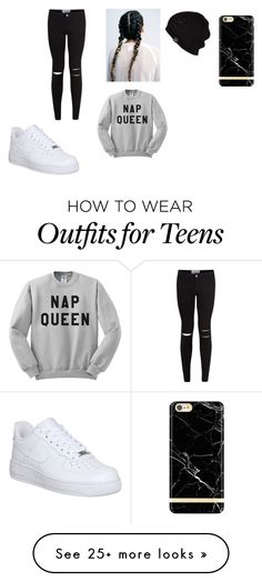 """Black and White"" by jos-efaa on Polyvore featuring NIKE and UGG Australia"