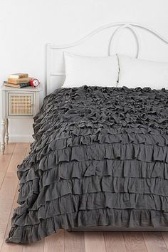 Gray Water Ruffle Duvet/Quilt Cover Set 600TC by we can probably choose a color- bigger than Pottery  Barn.    Lavishmart, $129.99