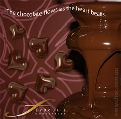Fardoulis Chocolates - Chocolate Hearts Chocolate Hearts, In A Heartbeat, Chocolates, Schokolade, Chocolate, Candy
