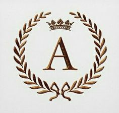 Good Snap Shots Laurel Wreath monogram Concepts A laurel wreath can be a wreath that is manufactured using the results in along with limbs from the Monogram Wallpaper, Alphabet Wallpaper, Alphabet Letters Design, Letter Art, Lettering Design, Logo Design, Illustration Noel, Luxury Logo, Monogram Wreath