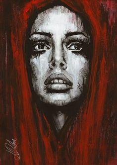 "Non Nude OIL & ACRYLIC CANVAS Painting ORIGINAL Portrait By L Dolan 16x24"" Rose"