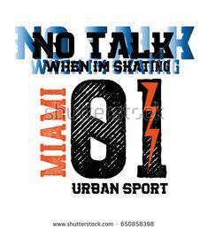 miami urban sport,t-shirt print poster vector illustration