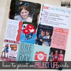 How to Print on Project Life Cards - Becoming Martha #ProjectLife