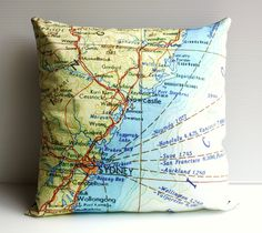 Street Map cushion. perfect gift for my boyfriend!!