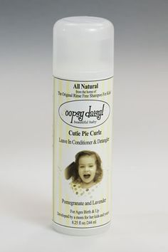 Oopsy Daisy! Beautiful Baby High Chair Hair Care is a rinse free shampoo leaves her hair soft and manageable – no rinsing needed- gets the stickness from snacks right outta there! (Do they make it for mommy too?)