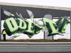 Three Dimensional Graffiti by Odeith