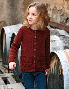 pattern knit crochet kids jacket autumn winter katia 6905 3 g Knitting For Kids, Crochet For Kids, Baby Knitting, Knit Crochet, Tweed, Knit Cardigan Pattern, Young Girl Fashion, Turban Style, Winter Kids