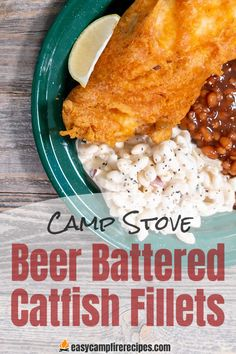 Beer Batter Catfish Recipe, Catfish Recipes, Fried Fish Recipes, Seafood Recipes, Easy Campfire Meals, Campfire Food, Campfire Recipes, Beer Battered Fish, Battered And Fried