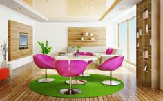 Modern Interior Design For Dining Room Decoration With Pink Futuristic Chair And Round Table  /  Many People Is Confusing How To Choose Cozy...