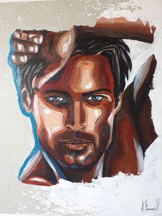 ''My Beduine'' Acrylic on canvas  by Anna Baramati.