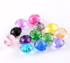 Doreen Box Acrylic Spacer Beads Rondelle Mixed Color Faceted 10x7mm,300PCs(B22116) #Affiliate