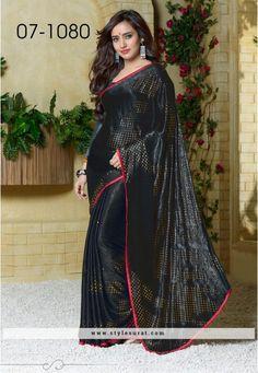 Classy Black Saree Endorsed By Neha Sharma