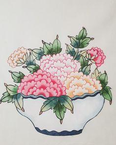 2017년의 마지막날이네요~ 저의2017년 한해는 참 많은일들이 있었어요. 학부모가 되었고 또 제 일을 다시 ... Asian Art, Digital Flowers, Drawings, Painting, Tea Cup Art, Color Festival, Art, Korean Painting, Japanese Folklore