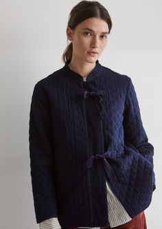 2b1785a224c Japanese Quilted Indigo Cotton Jacket   TOAST Japanese Coat, Japanese  Quilts, Classic Trench Coat