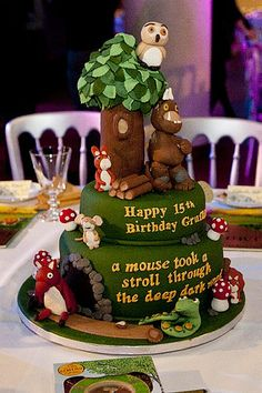 The Gruffalo 15th anniversary cake year for The Imagine Children's Festival launch party