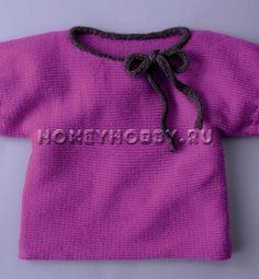 Вязание спицами для девочек 5 лет кофта