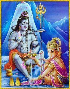 Shiva,Ganesha