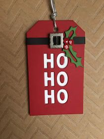 Watching Elf on TV, with family tonight! I have a Christmas tag, made with the CZ Design's Ho Ho Ho Tag die, along with the Simon Says . Company Christmas Cards, Christmas Cards To Make, Christmas Paper, Xmas Cards, Diy Christmas Gifts, Diy Cards, Penny Black, Karten Diy, Handmade Gift Tags