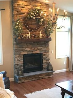 30 Living Room Layouts with Fire Places Stone Fireplace Makeover, Stone Fireplace Decor, Home Fireplace, Fireplace Remodel, Living Room With Fireplace, Fireplace Surrounds, Fireplace Design, Fireplace Makeovers, Stone Fireplaces