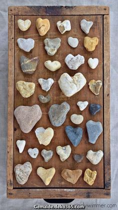 A collection of heart-shaped rocks - collected alo. - A collection of heart-shaped rocks - collected alo. Stone Crafts, Rock Crafts, Arts And Crafts, Diy Crafts, Crafts With Rocks, Rustic Crafts, Heart In Nature, Heart Art, Heart Shaped Rocks